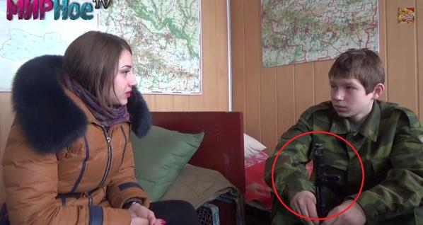 The offspring of the militants DNR. Donetsk