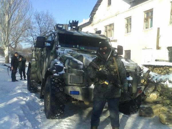 Ukrainian KRAZ Spartan near Lysychansk