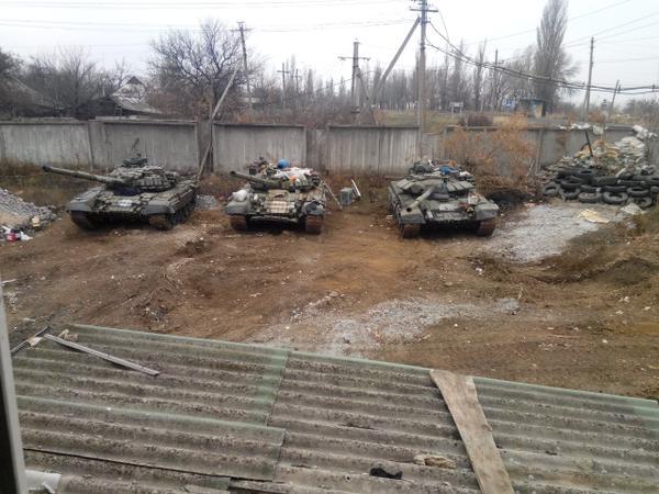 3T-72B tank in Zhdanivka (Donetsk region)