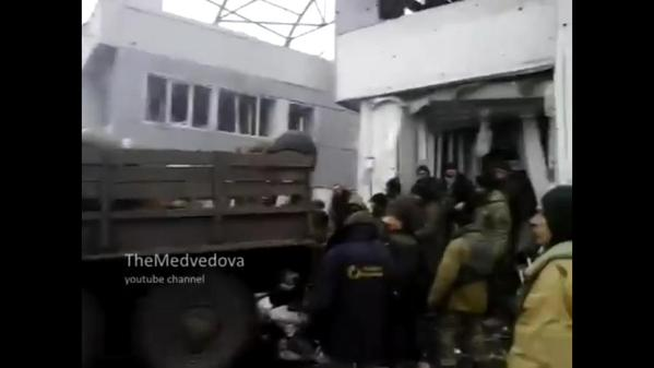 Video: Donetsk airport, control tower, rotation of Ukrainian military
