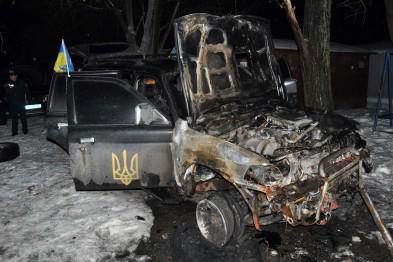 Car of Ukrainian self-defense was burned in Zaporizhie