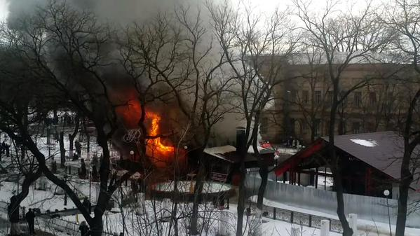 Explosion and fire at the cafe in Izmail, Odessa region. 15 wounded