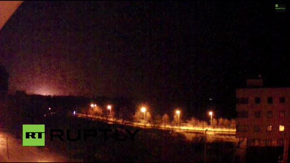 Non-stop explosions in Donetsk for some hours