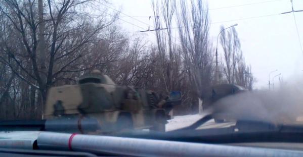In Krasnodon spotted Russian Vodnik GAZ-3937 armored vehicle