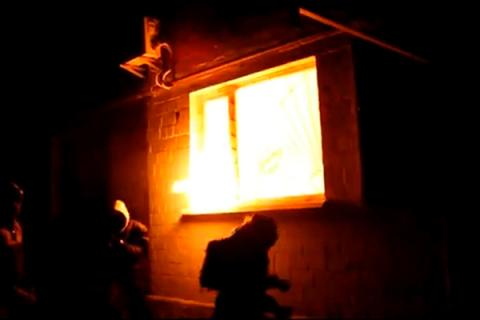 Arson attack on the Communist Party office in Kyiv