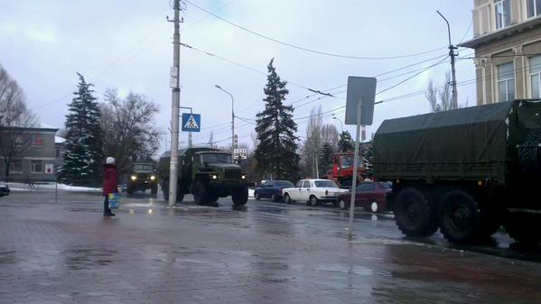 Russia|n troops on the move in Donetsk today
