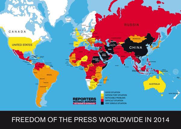 Ukraine has worsened position in the ranking of freedom of speech