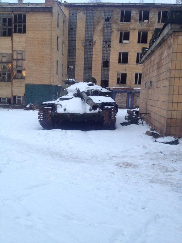 Kuprin street, Donetsk, Tank & military warehouse