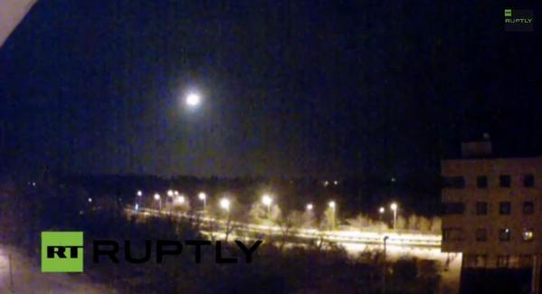 Flares over Donetsk