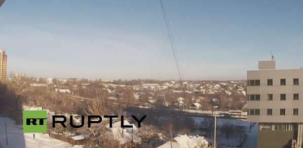 Donetsk explosions, every 2-10 seconds