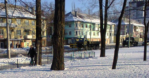 Donetsk Column of 10 Ural trucks
