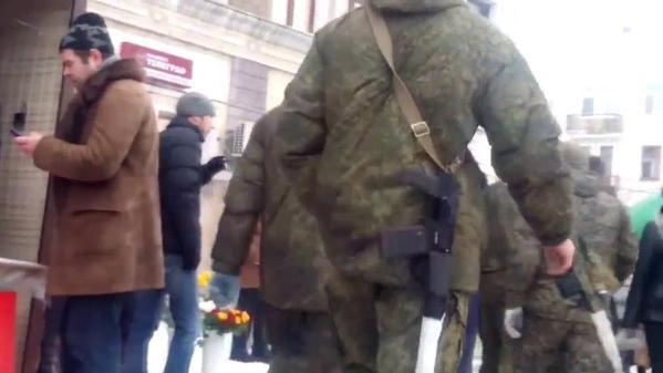 Russian Army troops in Luhansk