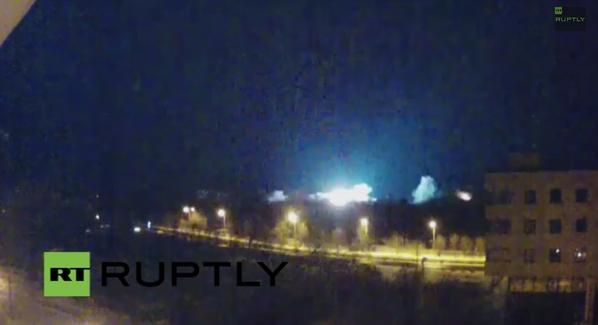 Shells landing very close to Donetsk stream camera