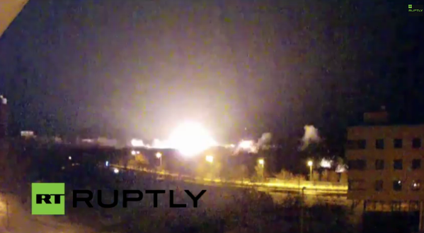 Heavy shelling close to Donetsk airport