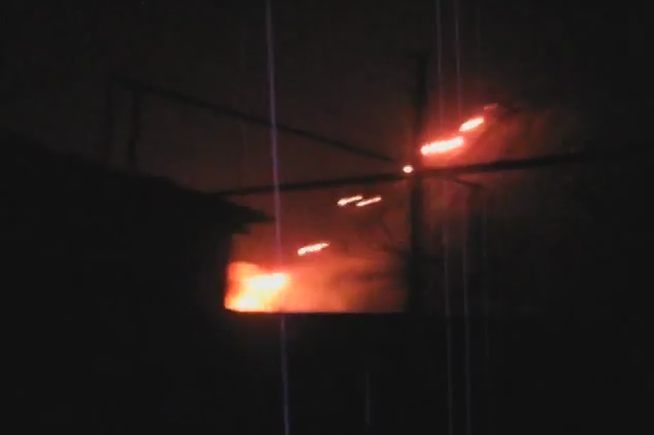 Donetsk this evening. Russian forces fire Grad missiles from inside Donetsk