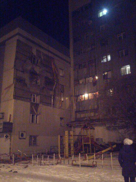 Donetsk. Artema street. Consequences of shelling