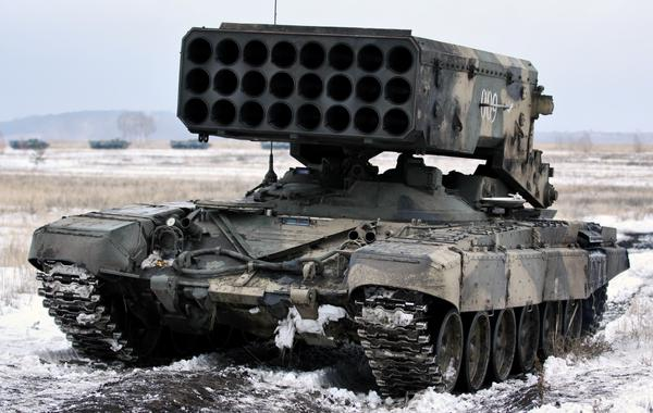 Donetsk Airport Battle: Kremlin-backed insurgents using Russian Buratino heavy flame throwers  l
