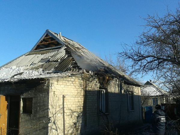 House was destroyed by militants in Avdiivka