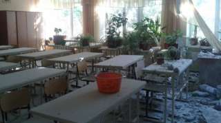 DNR terrorists  fired the school No. 3 in Avdiivka