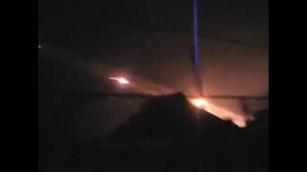 GRAD MLRS fire in Donetsk tonight