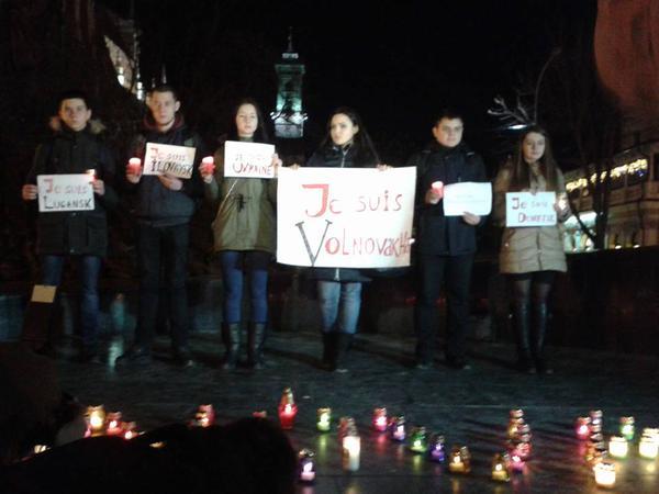 JeSuisVolnovaha rally in Lviv