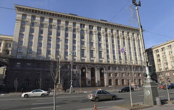 Someone broke the windows in the Kyiv mayor's office