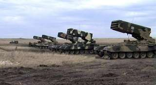 Militants are firing Donetsk airport with the help of tanks and MLRS Buratino