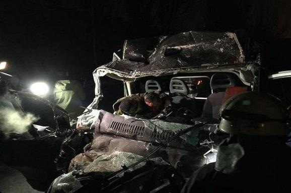 3 passengers are dead, 9 - woundered in shelled by militants bus in Donetsk