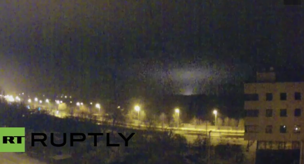 Another heavy MLRS volley hitting the eastern part of the airport now