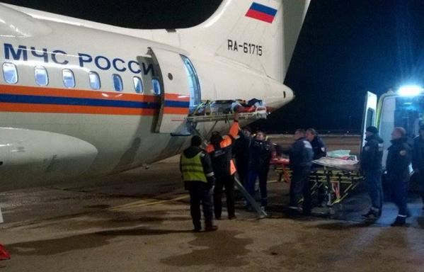 Russian Ministry of emergency situations move two children injured in the Donbass to Moscow