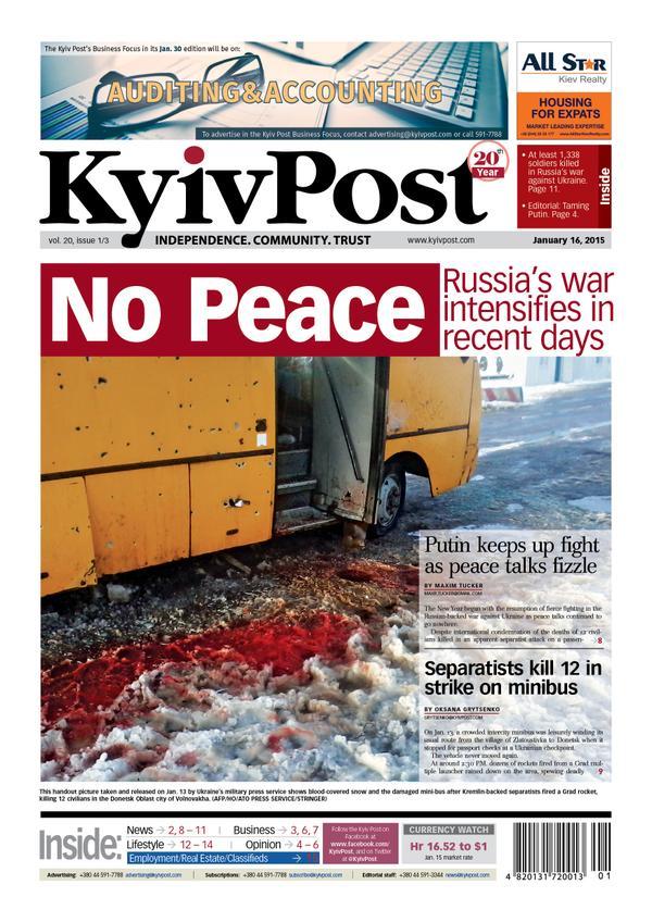 Kyiv Post. Friday, Jan. 16, 2015.
