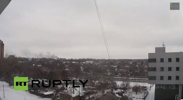 Fire at the Donetsk airport again