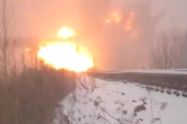 The LNR militants blew up a bridge in Lutuhyne, Luhansk region