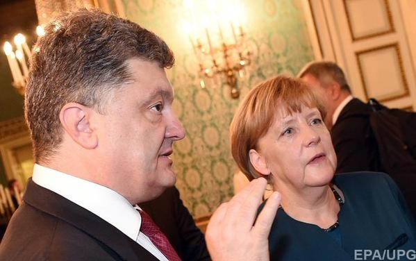 Poroshenko and Merkel called for the prompt tripartite meeting of the contact group