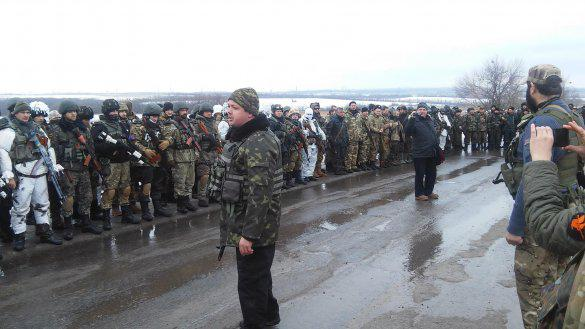 Semenchenko together with the assault company of Donbass went into the zoneATO