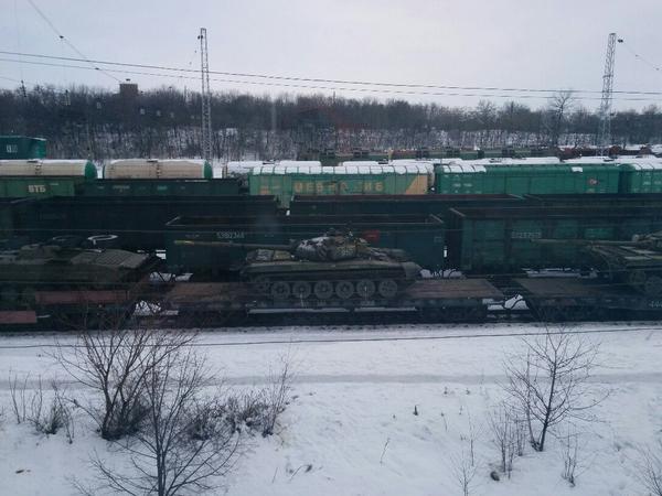 Echelon of Russian tanks in Tahanrig