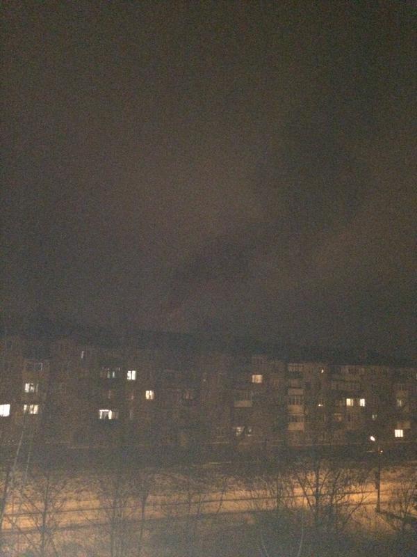 Fire on Ostapenko street in Horlivka