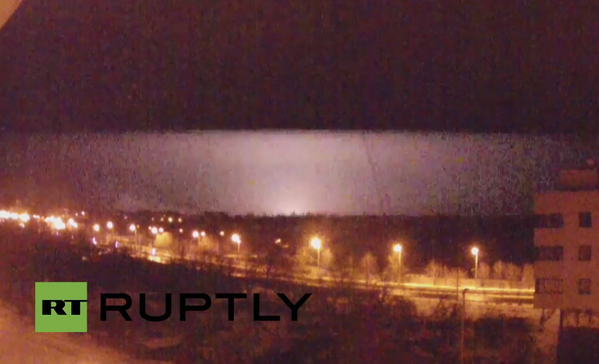 One of the explosions in Donetsk airport