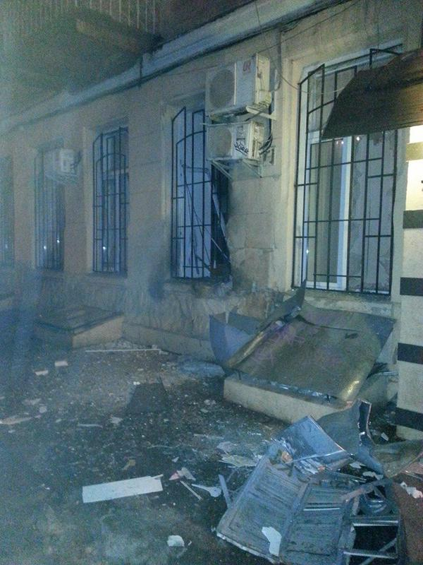 Explosion in the center of Odessa