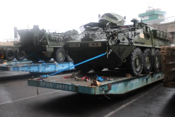U.S. heavy combat equipment have arrived for combined training in Lithuania