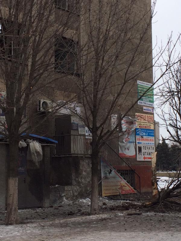 The consequences of shelling in Horlivka
