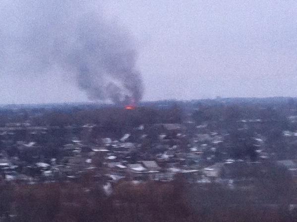 Fire in Donetsk