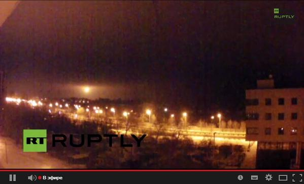 Explosions over airport