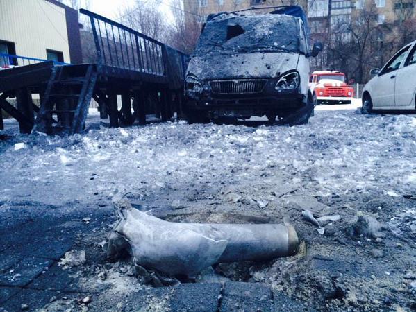 Shells hit Donetsk Fire depot