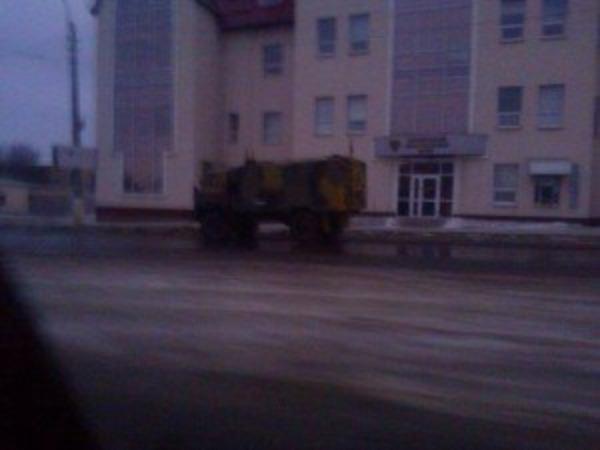 Russian Sigint truck in Luhansk