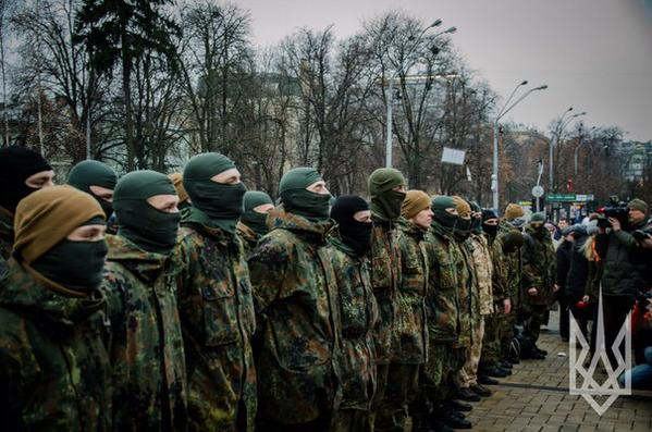 Reinforcement of AZOV went to ATO zone from Kyiv