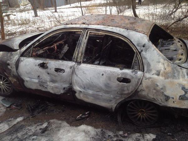 Donetsk. Shells hit yard