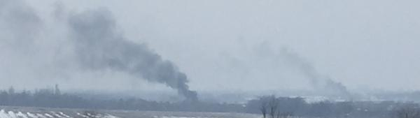 More and more Smoke. Fighting continues. Donetsk