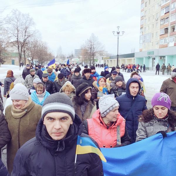 March in Lisichansk