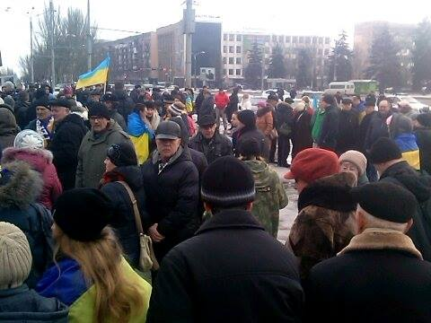 At the Peace March in  Zaporizhzhya gathered more than five hundred people
